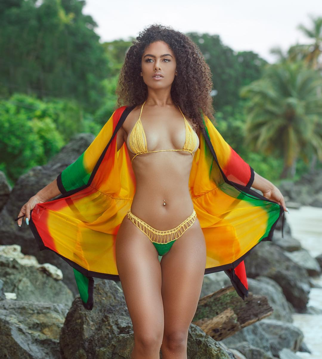 Grenada Flag Colors Bikini Set